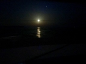 Moon rising to our east